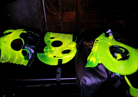 Neon Green Chaps by Company Cubed